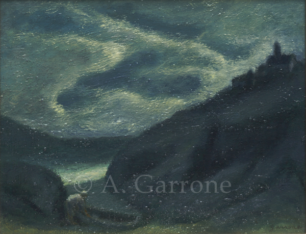 Night Cove - Seascape Oil on Panel Painting